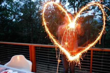 Волшебство с бенгальскими огнями