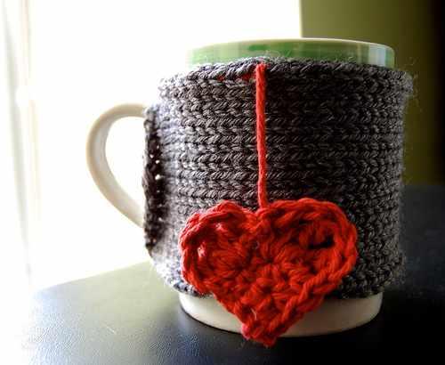 Теплая чашка с сердечком