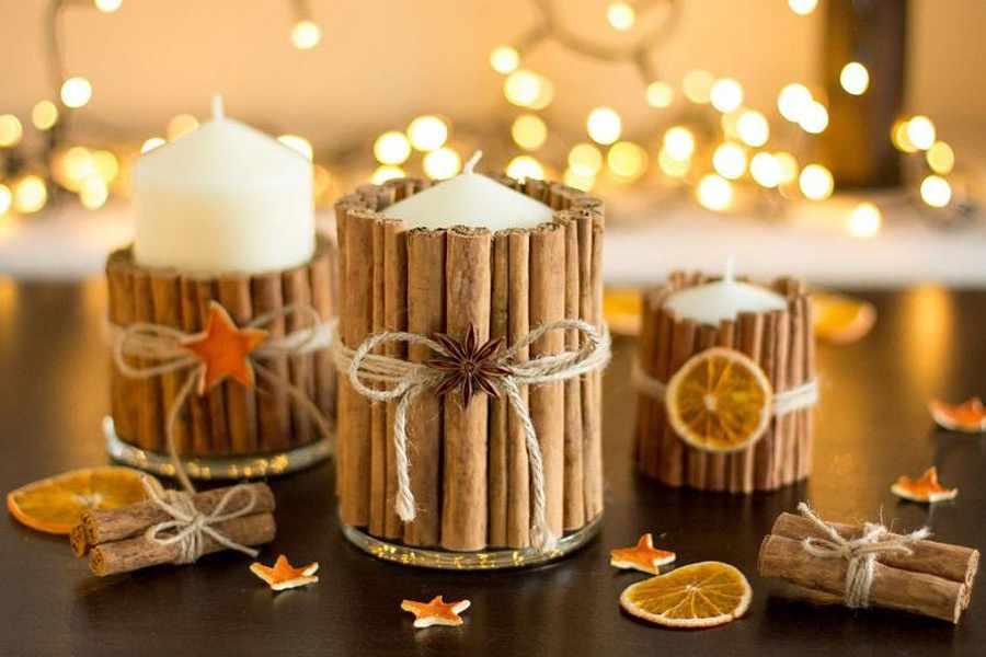 Зажечь дома свечу с ароматом корицы